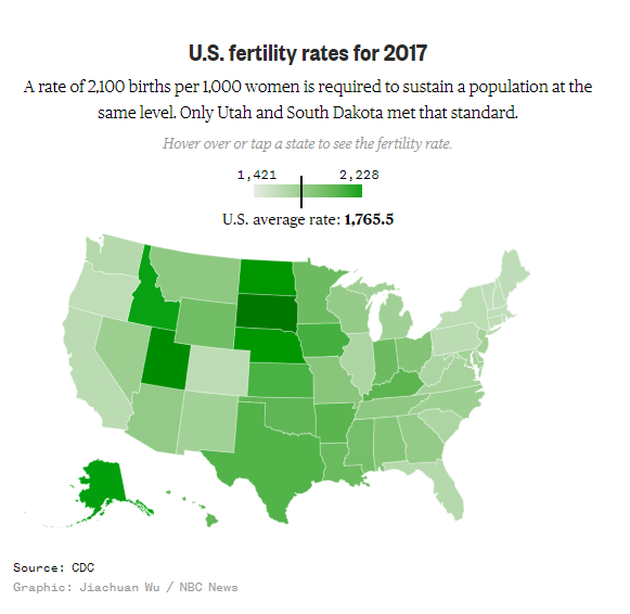 Birth rate map